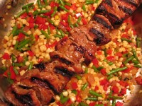 summer succotash with pork